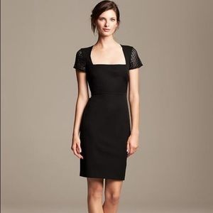 Banana Republic Dresses - Roland Mouret for Banana Republic Black Lace Dress